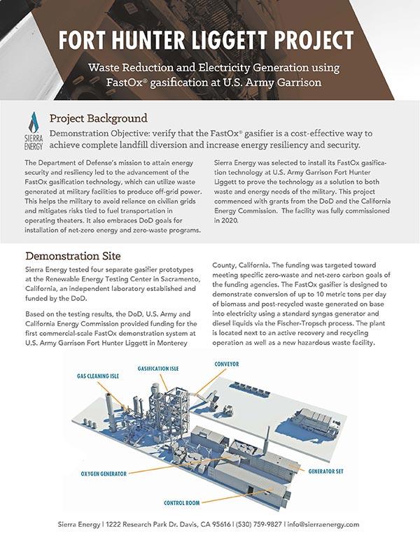 Fort Hunter Liggett Project Brochure
